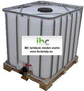3.3 - IBC, tiszta, általános IPARI felhasználásra, 1000 L-es tartály, I. osztály
