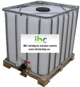 3.2 - IBC, tiszta, ÉLELMISZERES, 1000 L-es tartály