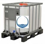 1.5. <> 640 liter, Felújított, IBC, ÉLELMISZERES tartály / konténer