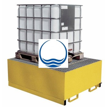 1. - Acél kármentő, 1 palettás - 1000 L-es IBC tartályhoz - MEKO