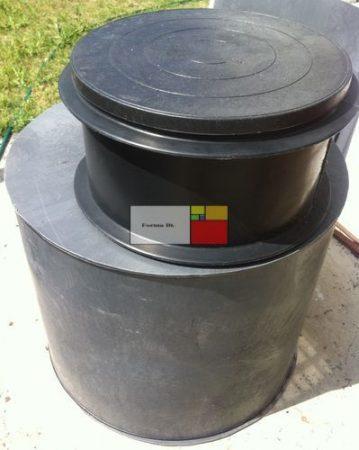 UNITANK VAM-H 1000 - hegesztett HD-PE műanyag - mászható vízóra akna, lépésálló tetővel