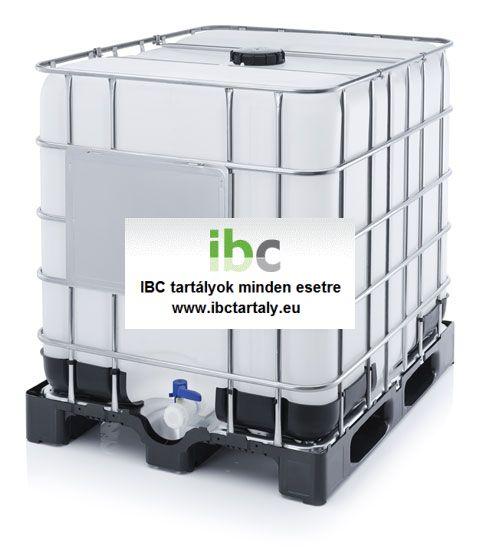 1.4 - ÚJ, IBC, 1000 L-es ÉLELMISZERES tartály / konténer - D