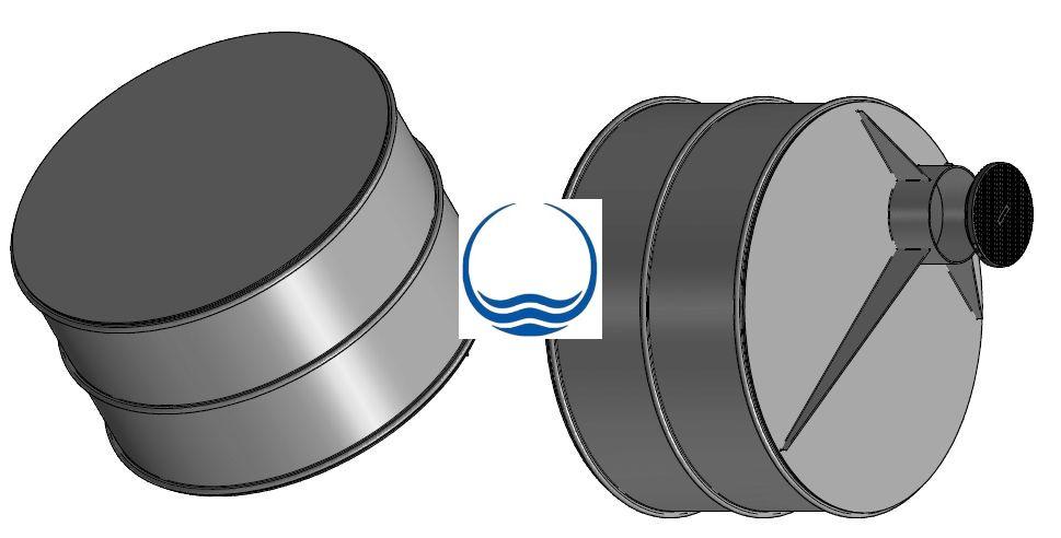 4 m3-es PPW/PEW - műanyag ivóvíz tároló tartály