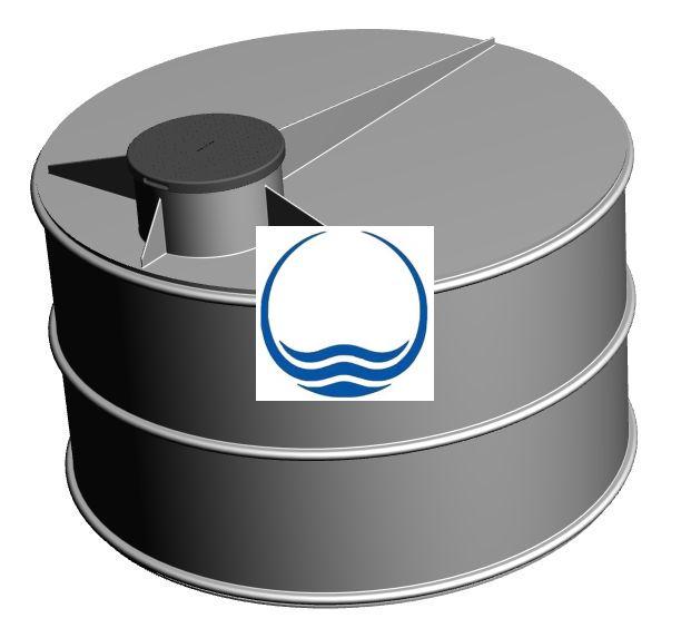 5 m3-es PPW/PEW - műanyag ivóvíz tároló tartály