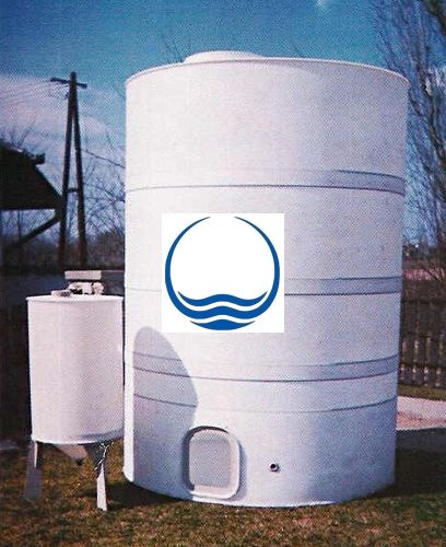 9 m3-es PPW/PEW - műanyag ivóvíz tároló tartály
