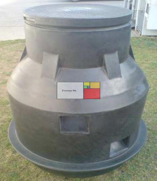 UNITANK VAM 1000 - erősített - mászható vízóra akna, lépésálló tetővel
