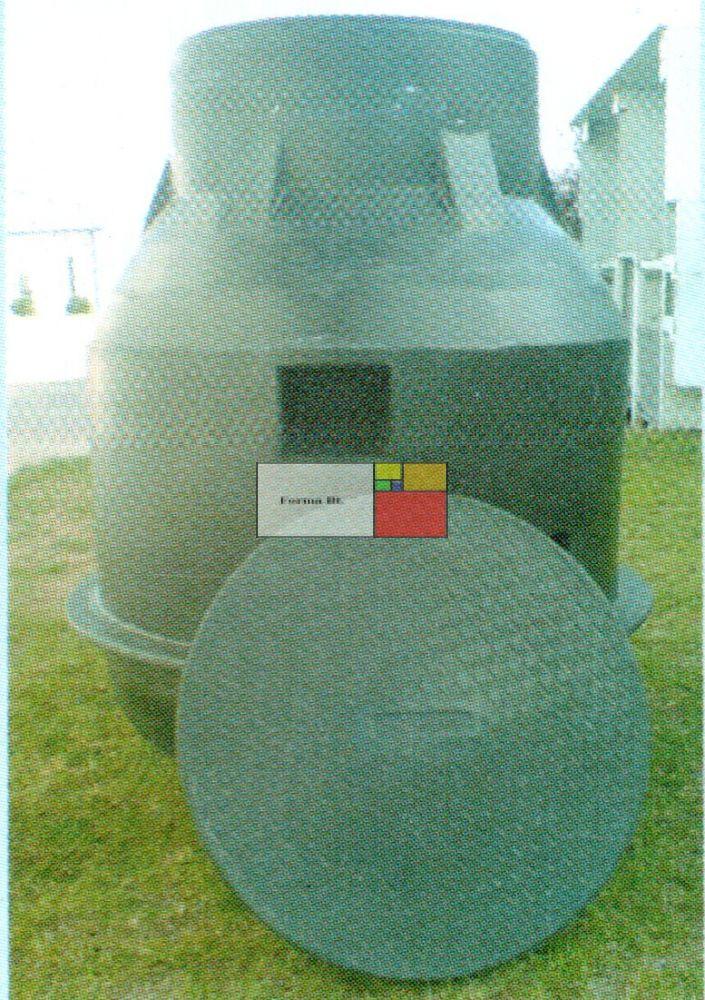 UNITANK SZÁM 1000 - erősített - mászható szennyvíz átemelő akna, lépésálló tetővel