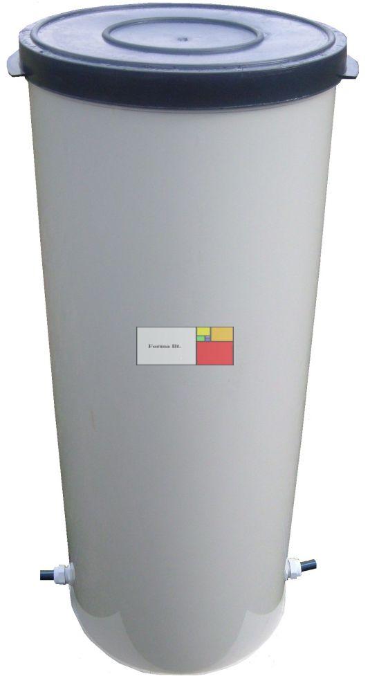UNITANK VA 470 Hegesztett PP. - Nem mászható műanyag vízóra / vízmérő akna, lépésálló tetővel, 2 db csatlakozó tömítéssel