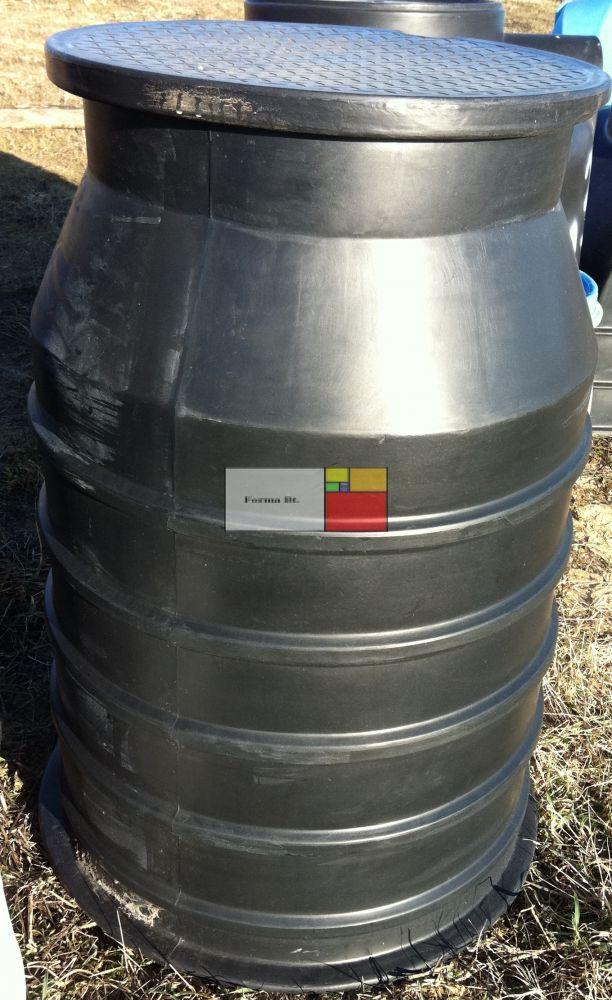 UNITANK SZÁ 800 PE - Nem mászható szennyvíz átemelő akna, lépésálló tetővel, 2 db csatlakozó tömítéssel