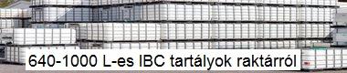640 - 1000 literes IBC tartályok raktárról!